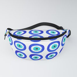 Evil Eye Amulet Talisman - on white Fanny Pack