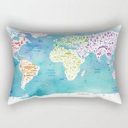 worldmap continents and oceans Rectangular Pillow