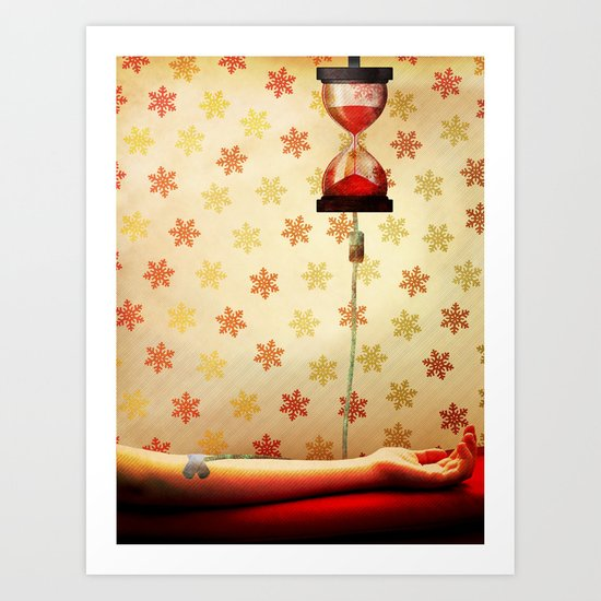 Time is up! Art Print