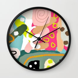 Transitioning, Abstract Home Decor, Colorful Art Prints, Living Room Wall Wall Clock