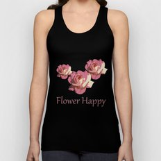 Pretty pink rose garden flower. Floral nature photography.   Unisex Tank Top