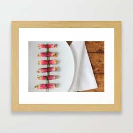 Raddish Wrap Kitchen Art Framed Art Print