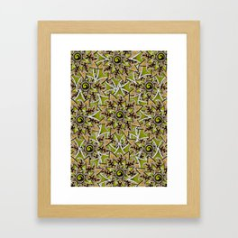 pattern craziness 3 Framed Art Print