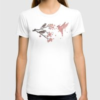 flowers T-shirts featuring Blossom Bird  by Terry Fan