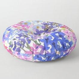 Blue Delphinium Garden Floor Pillow