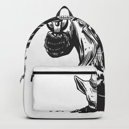Wild cowboy skeleton - western skull cartoon Backpack