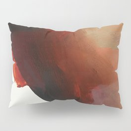 abstract with red Pillow Sham