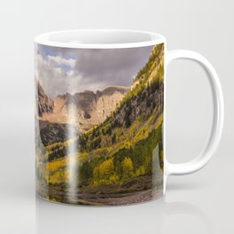Beginning of Fall at Maroon Bells Coffee Mug