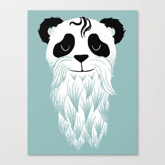 Panda Beard Canvas Print
