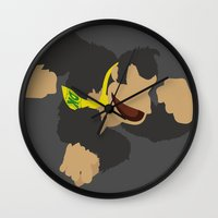 donkey kong Wall Clocks featuring Donkey Kong(Smash)Black by ejgomez