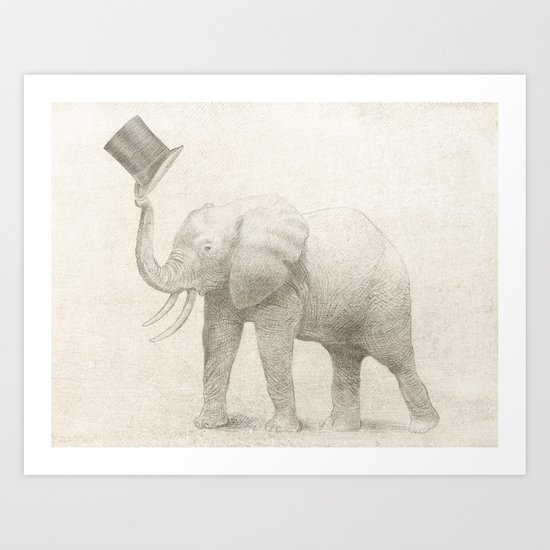 Good Morning (pencil option) Art Print