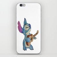 stitch iPhone & iPod Skins featuring Stitch by Elyse Notarianni