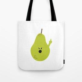 Vulgar Fruit: Profane Pear Tote Bag