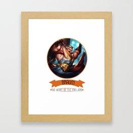League Of Legends - Braum Framed Art Print