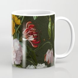 """Abraham Mignon """"Still life with flowers in a glass vase"""" Coffee Mug"""