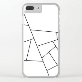 Modern Geometric 57 Clear iPhone Case