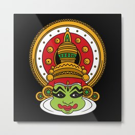 Kathakali tamil indian kathakali head Metal Print