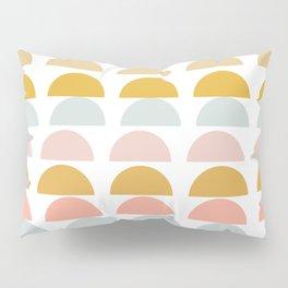 Geometric Half Circles Pattern in Earth Tones Pillow Sham