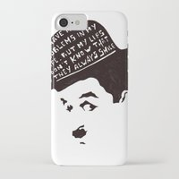 chaplin iPhone & iPod Cases featuring Charlie Chaplin by Ilariabp.art
