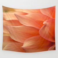 jewish Wall Tapestries featuring Gentle Petals by Brown Eyed Lady