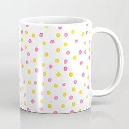 Yellow and pink polka dots Coffee Mug
