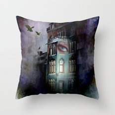 inside the haunted house Throw Pillow