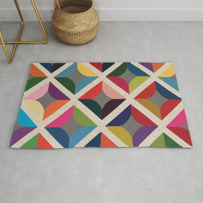 Colourful Geometric Rug By Nibiprints