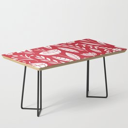 Blooming field - red Coffee Table