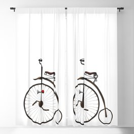Vintage Penny Farthing Blackout Curtain