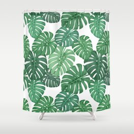 MONSTERA JUNGLE, by Frank-Joseph Shower Curtain