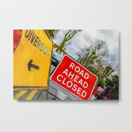 Diversions.....story of British roads Metal Print