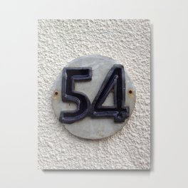 Delicious House Number Plate 54 Metal Print