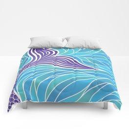 Purple Mermaid's Tail Comforters