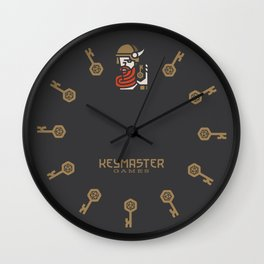 Keymaster Games Wall Clock