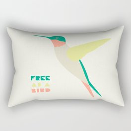 Free Humming Bird Rectangular Pillow