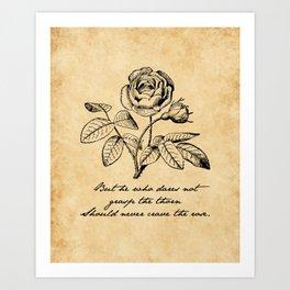 Anne Bronte - Crave the Rose Art Print