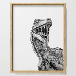 Clever Girl Velociraptor Serving Tray