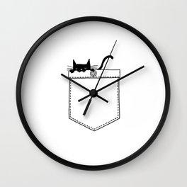 Pocket Cat Wall Clock