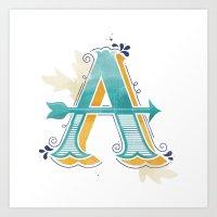 "capital letter ""A"" Art Print"