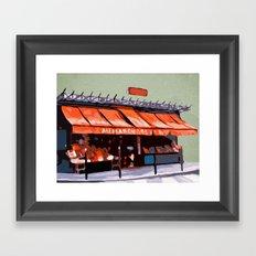 Shopping in Paris Framed Art Print