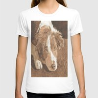 border collie T-shirts featuring Border Collie Puppy Wren by Yvonne Carter