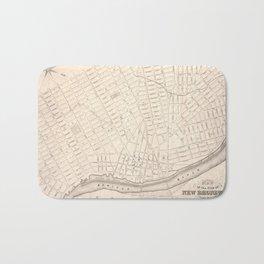 Vintage Map of New Brunswick NJ (1837) Bath Mat