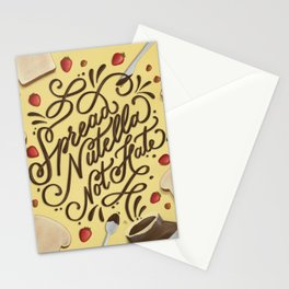 Spread Nutella Not Hate Stationery Cards