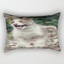 Happy puppy Rectangular Pillow
