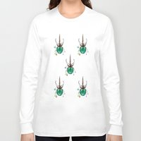 beetle Long Sleeve T-shirts featuring Beetle by Rocío Gómez