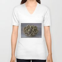 medical V-neck T-shirts featuring Bordello Medicinal Medical Marijuana by BudProducts.us