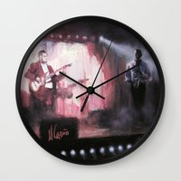 theatre Wall Clocks featuring Lotus Theatre by Miquel Cazanya