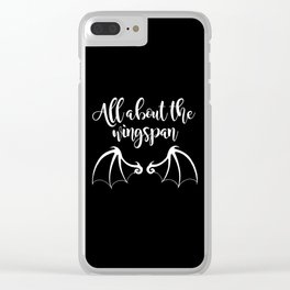 All About the Wingspan black design Clear iPhone Case
