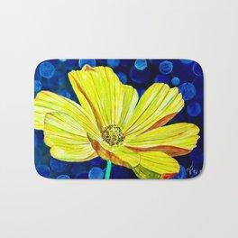 Cosmos Flower | Watercolor Art Bath Mat