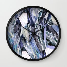 Ice Blue Crystalize Wall Clock
